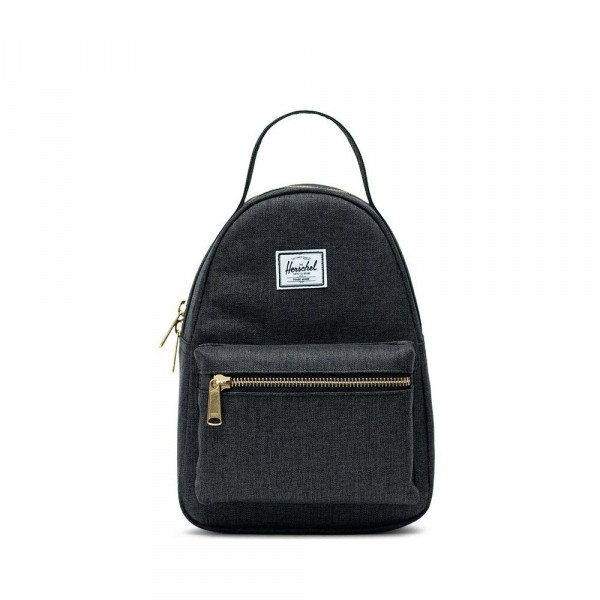 HERSCHEL SOMA NOVA MINI POLY BLACK CROSSHATCH