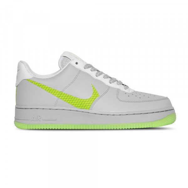 NIKE APAVI AIR FORCE 1 '07 LV8 WOLF GREY GHOST GREEN S20