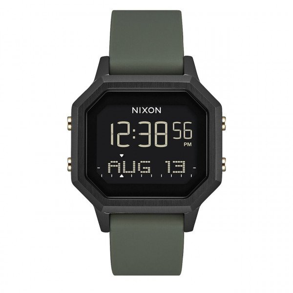 NIXON PULKSTENIS SIREN SS BLACK FATIGUE