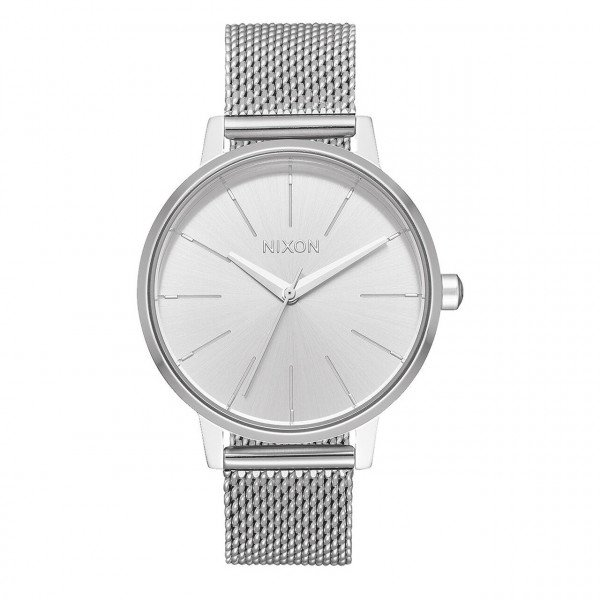 NIXON WATCH KENSINGTON MILANESE ALL SILVER