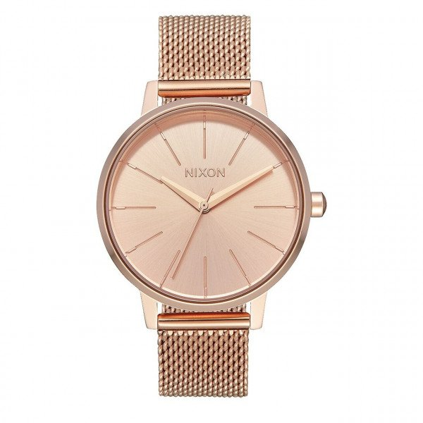 NIXON PULKSTENIS KENSINGTON MILANESE ALL ROSE GOLD