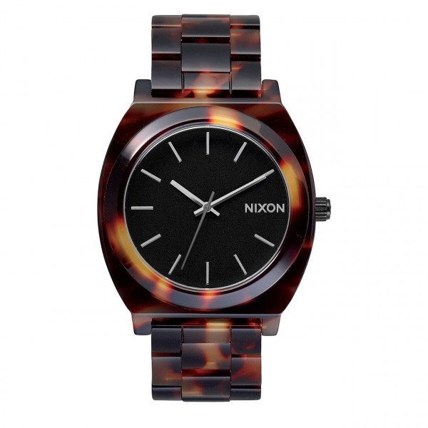 NIXON WATCH TIME TELLER ACETATE TORTOISE