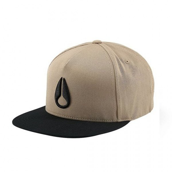 NIXON CEPURE SIMON SNAP BACK HAT KHAKI BLACK