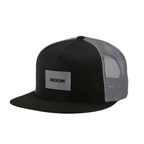 NIXON CEPURE TEAM TRUCKER HAT BLACK CHARCOAL