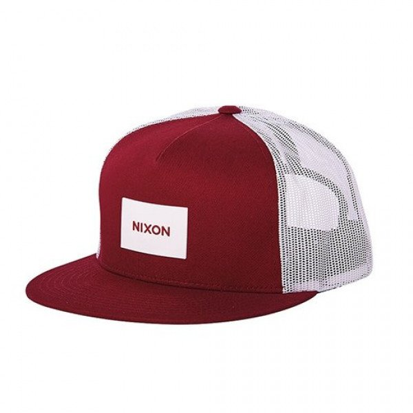 NIXON CEPURE TEAM TRUCKER HAT BURGUNDY