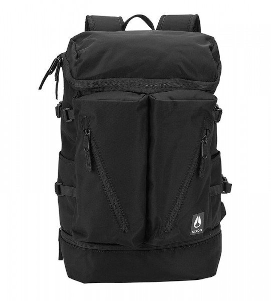 NIXON SOMA SCRIPPS BACKPACK ALL BLACK NYLON