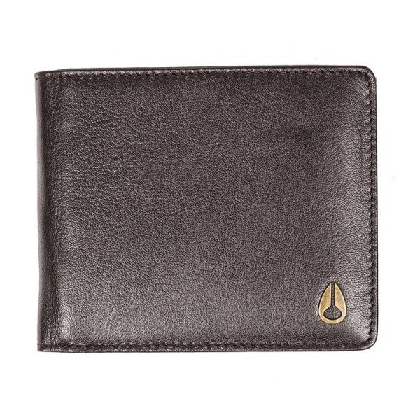 NIXON WALLET PASS LEATHER COIN BROWN