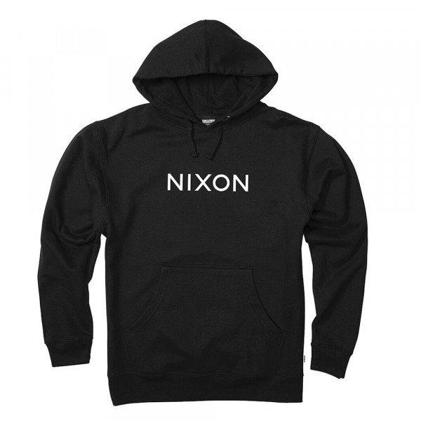 NIXON HOOD WORDMARK PULLOVER BLACK S20
