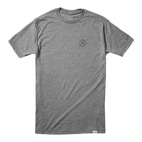NIXON T-SHIRT SPOT II S/S TEE DARK HEATHER GRAY S20
