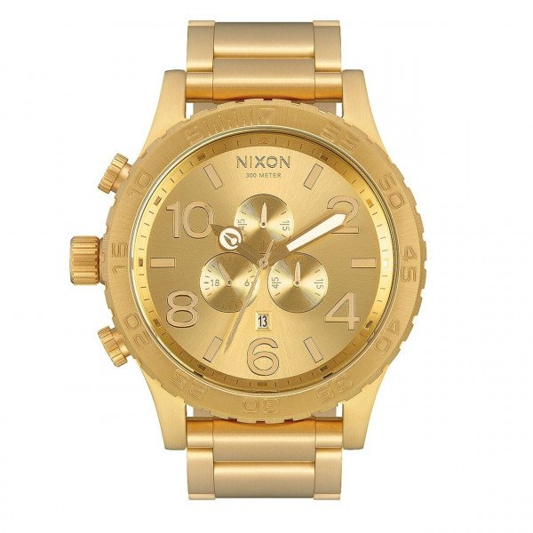 NIXON PULKSTENIS 51-30 CHRONO ALL GOLD