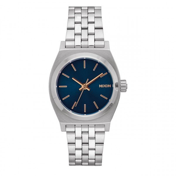 NIXON WATCH MEDIUM TIME TELLER NAVY ROSE GOLD