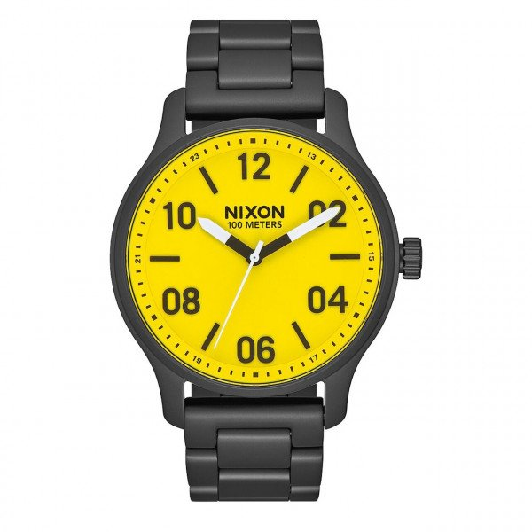 NIXON PULKSTENIS PATROL ALL BLACK YELLOW