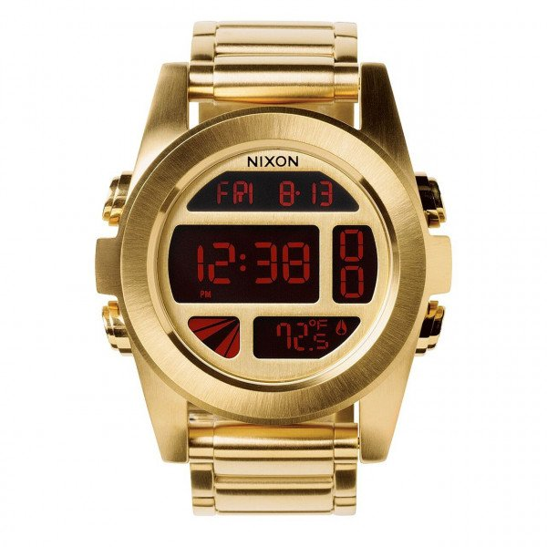 NIXON PULKSTENIS UNIT SS ALL GOLD