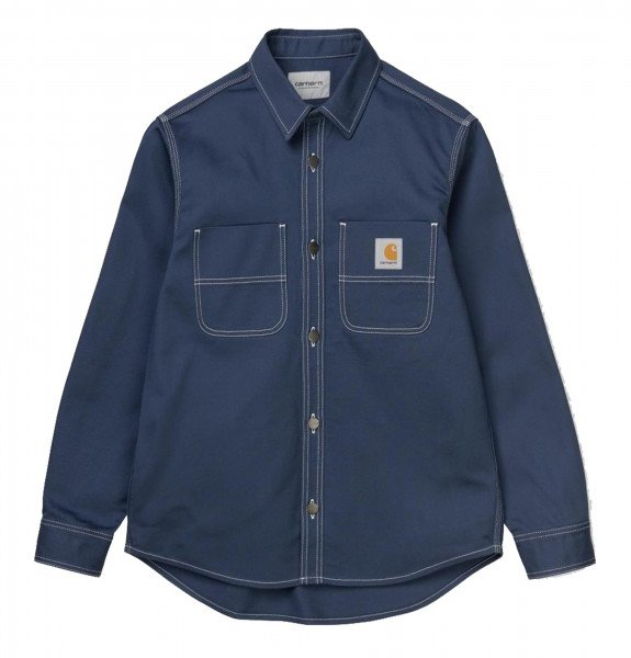 CARHARTT WIP KREKLS CHALK SHIRT JAC BLUE RIGID S20