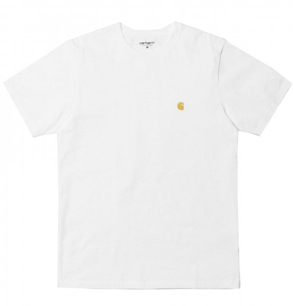 CARHARTT WIP T-SHIRT S/S CHASE WHITE GOLD S20