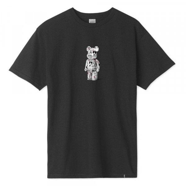 HUF T-SHIRT PHIL FROST X BEARBRICK BLACK S20