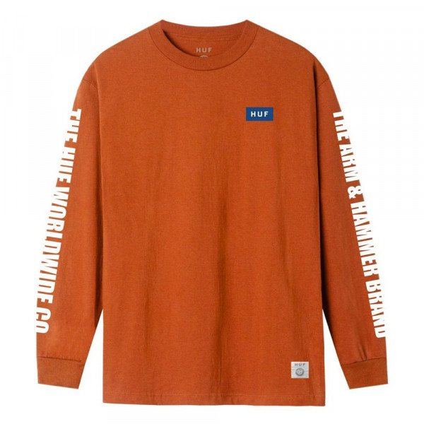 HUF LONGLSEEVE ARM & HAMMER GOLD SEAL LS ORANGE S20