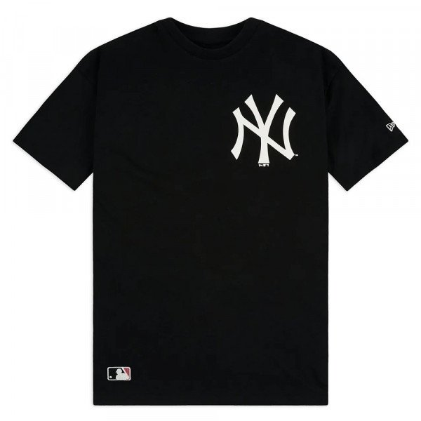 NEW ERA T-SHIRT MLB BIG LOGO OVERSIZED TEE NY YANKEES BLK S20