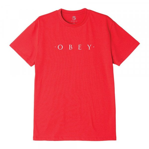 OBEY T-SHIRT NOVEL OBEY RED S20
