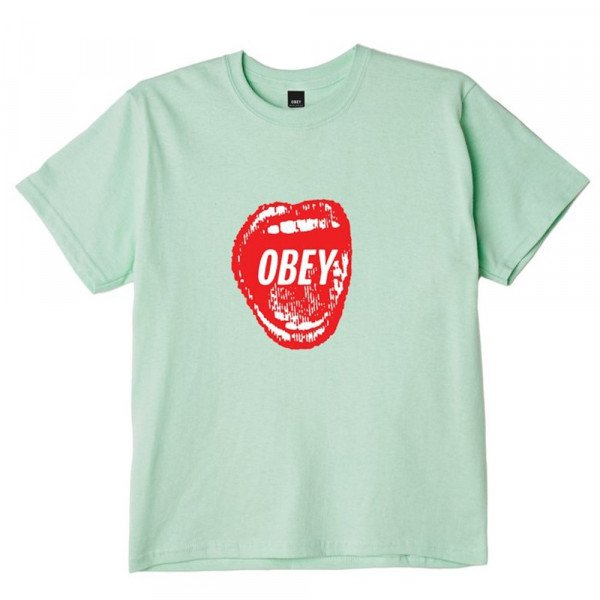 OBEY T-SHIRT SCREAMIN LIPS 2 MNT S20
