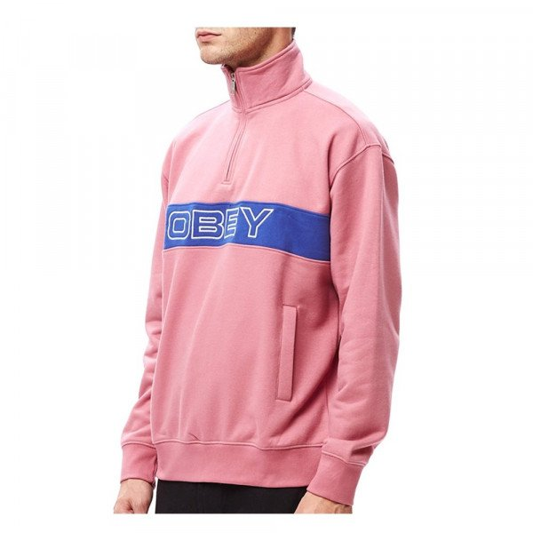 OBEY HOOD COURT ZIP MOCK CAS S20
