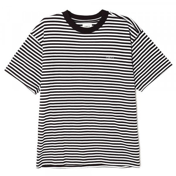 OBEY T-SHIRT IDEALS SUSTAINABLE STRIPE TEE BKM S20