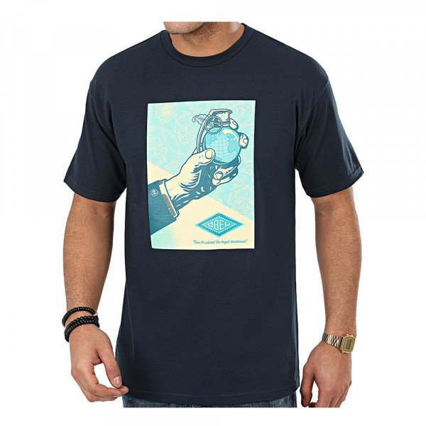 OBEY T-SHIRT ROYAL TREATMENT NVY S20