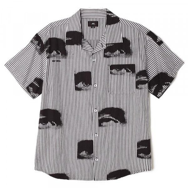 OBEY SHIRT SEES ALL WOVEN BKM S20
