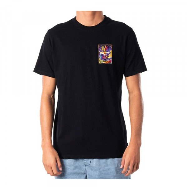 RIP CURL T-SHIRT MADSTEEZ CORPO TEE BLACK S20