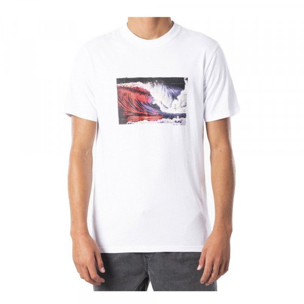 RIP CURL T-SHIRT MADSTEEZ CURRENT TEE WHITE S20