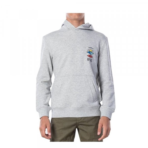 RIP CURL HOOD THE SEARCH HOODED KIDS CEMENT MARLE S20