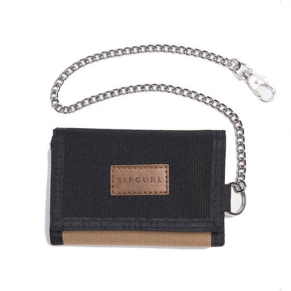 RIP CURL WALLET SURF CHAIN BLACK TAN S20