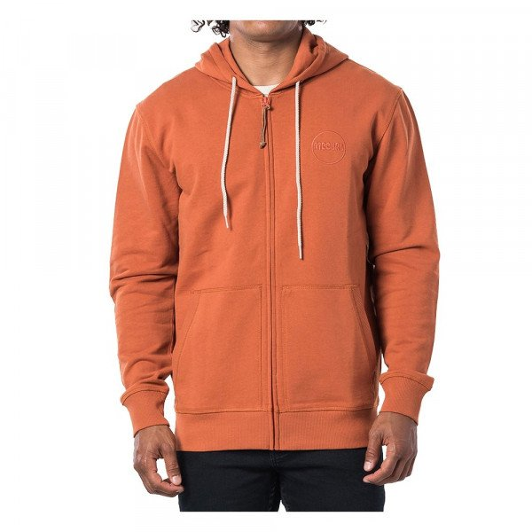 RIP CURL ZIP-HOOD ECO CRAFT FLEECE TERRACOTTA S20