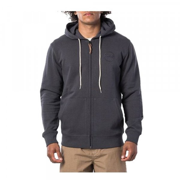 RIP CURL ZIP-HOOD ECO CRAFT FLEECE WASHED BLACK S20