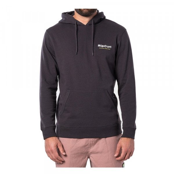 RIP CURL HOOD GLITCH FLEECE WASHED BLACK S20