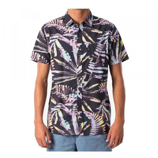 RIP CURL GLITCH S/S SHIRT BLACK S20
