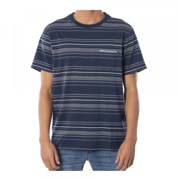 RIP CURL T-SHIRT SEARCHERS JACQUARD TEE INDIGO S20