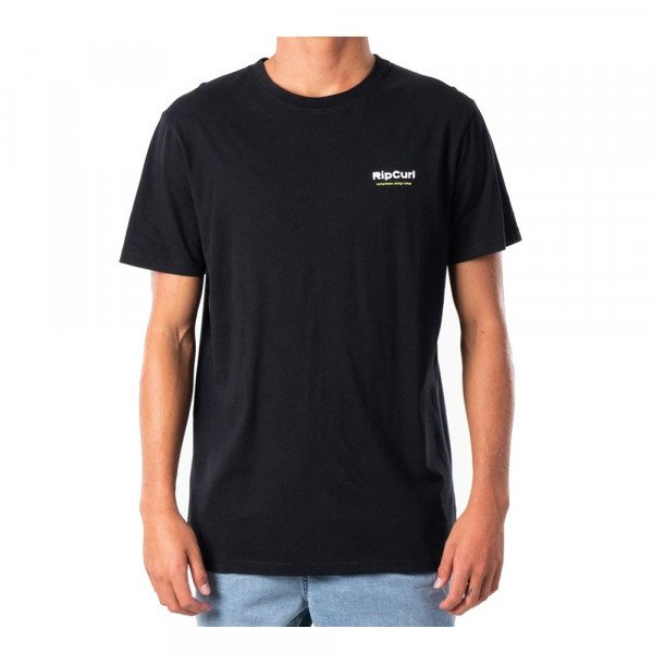RIP CURL T-SHIRT OG GLITCH TEE BLACK S20