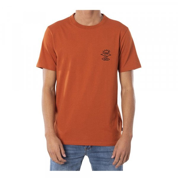 RIP CURL T-SHIRT SEARCHERS CRAFTER TEE TERRACOTTA S20