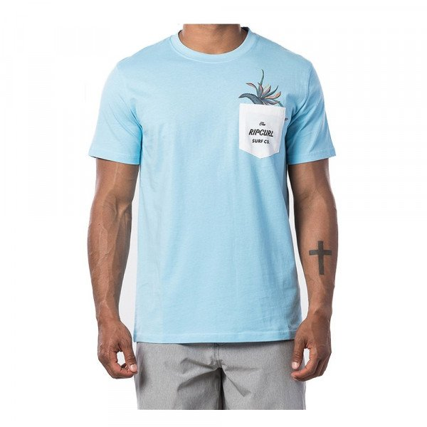 RIP CURL T-SHIRT IN DA POCKET S/S TEE BLUE RIVER S20