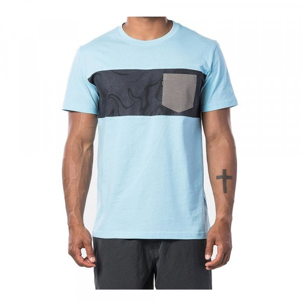 RIP CURL T-SHIRT BUSY SESSION S/S TEE BLUE RIVER S20