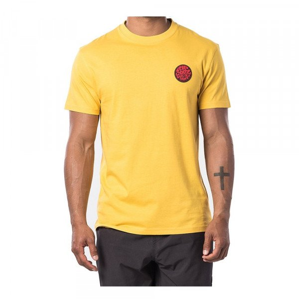 RIP CURL T-SHIRT PASSAGE TEE WASHED YELLOW S20