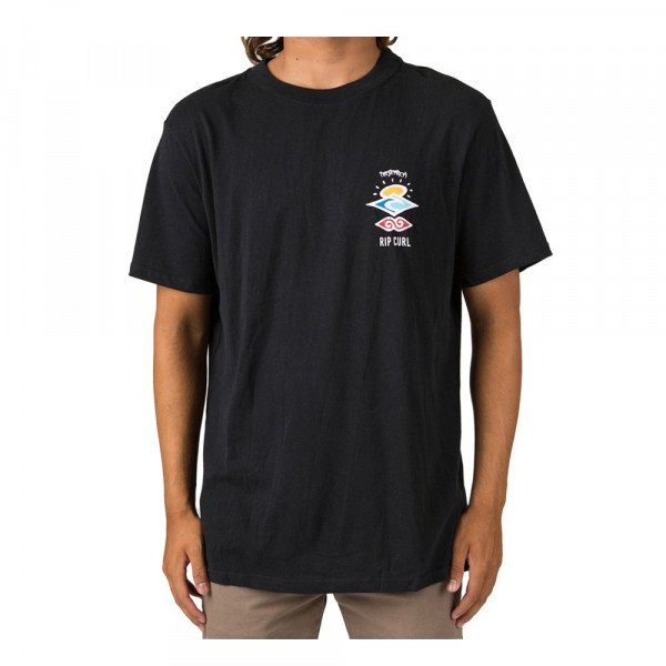 RIP CURL T-SHIRT SEARCH ICON S/S TEE BLACK S20