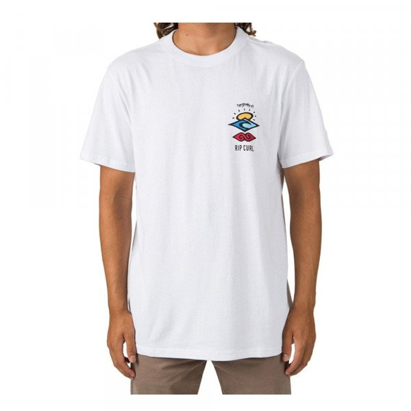RIP CURL T-SHIRT SEARCH ICON S/S TEE OPTICAL WHITE S20