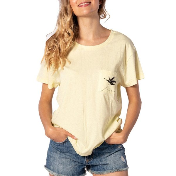 RIP CURL T-SHIRT MINIMALIST WAVE TEE WAX YELLOW S20