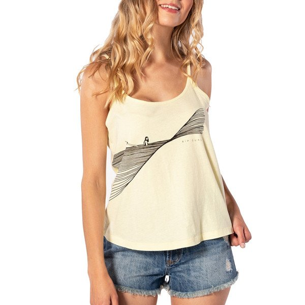 RIP CURL TOPS HARLOW SINGLET WAX YELLOW S20