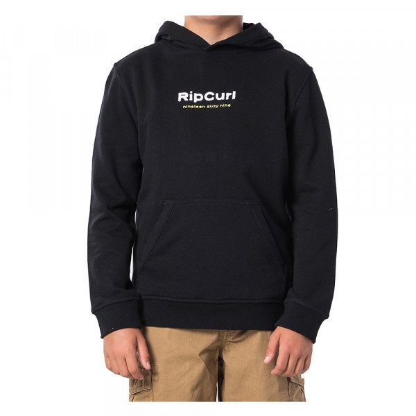 RIP CURL HOOD NATIVE HOODED FLEECE KIDS BLACK S20