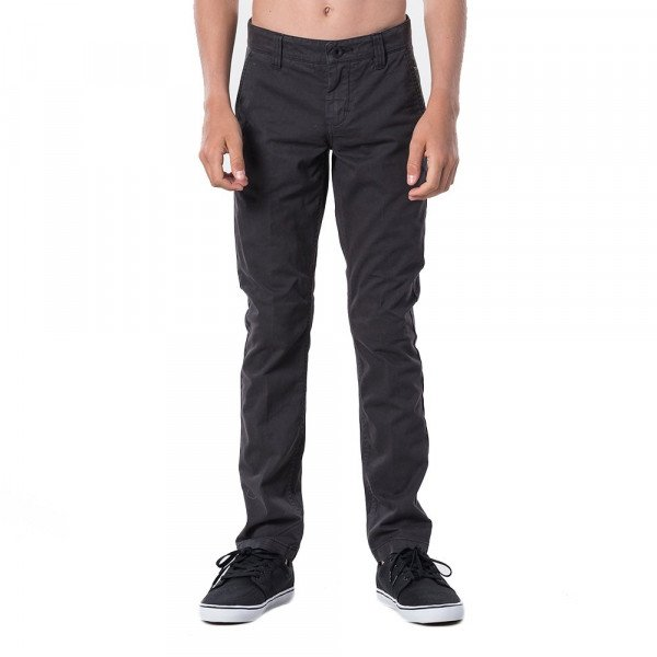 RIP CURL TROUSERS SAVAGE PANT KIDS WASHED BLACK S20