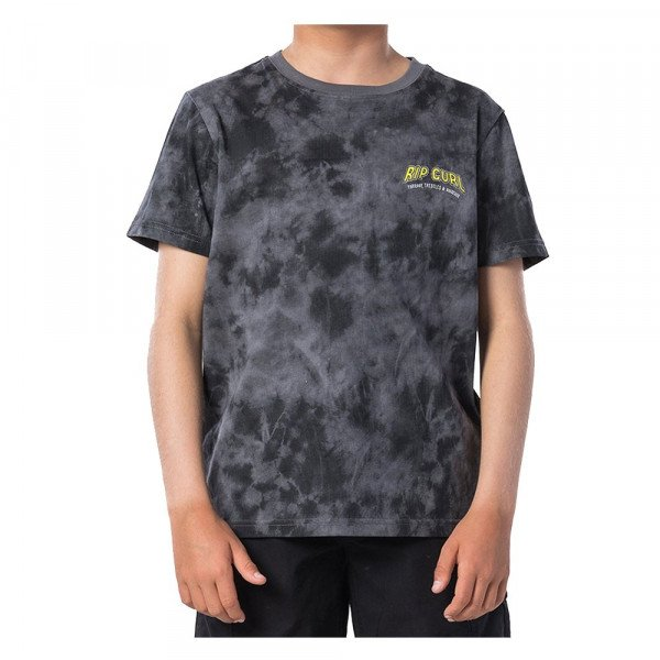 RIP CURL T-SHIRT TIE AND DYED SS TEE KIDS BLACK S20