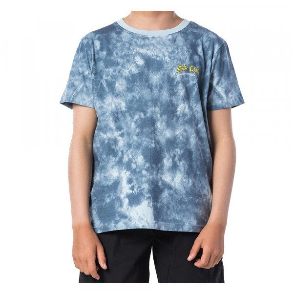 RIP CURL T-SHIRT TIE AND DYED SS TEE KIDS MID BLUE S20